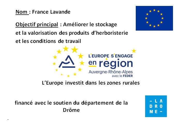 France Lavande - Financment Europe